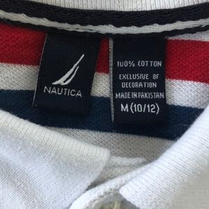 Nautica Shirts & Tops - Striped polo by Nautica. - size M (10/12)